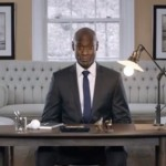 Cree Lance Riddick at desk